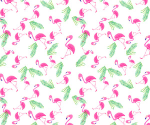 flamingo, pattern, and wallpaper image