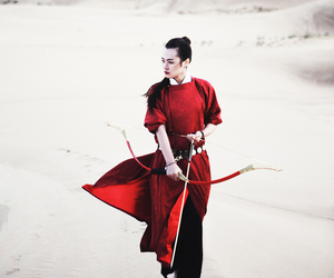 bow and arrow, china, and chinese dress image