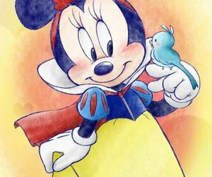 disney, minnie, and snow white image