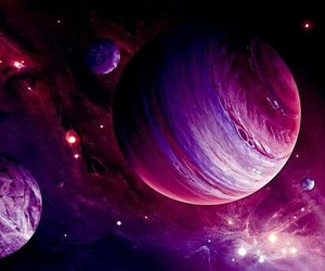 pink, planet, and space image