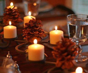 autumn, candles, and winter image