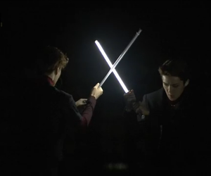 exo, jedi, and lightsaber image