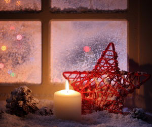 december, lights, and snow image