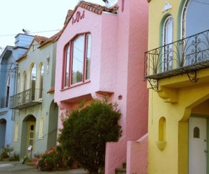house and pastel image