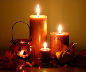 candle, Halloween, and autumn image
