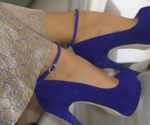 blue shoes, high heels, and shoes image