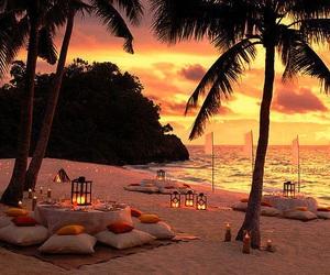 beach, summer, and sunset image