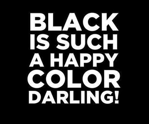 black, happy color, and love image