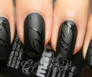 art, black, and nail art image