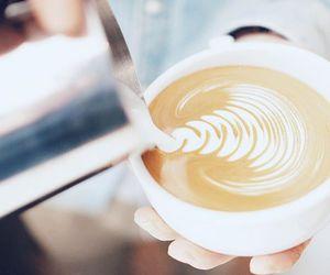art, milk, and coffee image