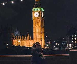 couple, love, and Big Ben image
