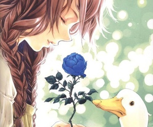 anime, duck, and flowers image