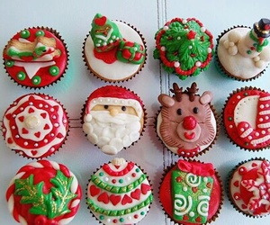 christmas, cupcake, and food image