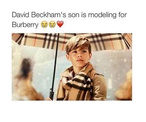 adorable, Burberry, and romeo beckham image