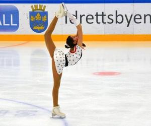 dress, figure skating, and flexible image