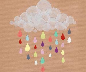 rain, clouds, and art image