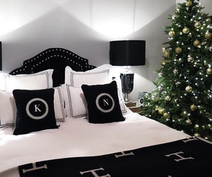 bedroom, black, and green image