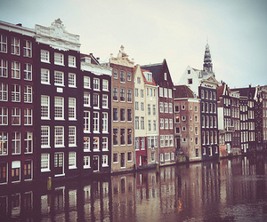 city, amsterdam, and europe image