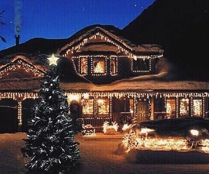 christmas, house, and light image