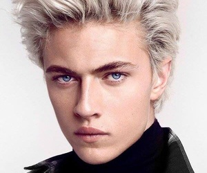 model, lucky blue smith, and blue image