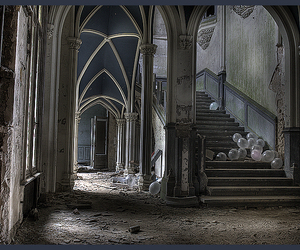 abandoned and balloons image