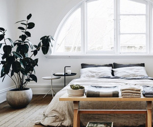 bed, bedroom, and modern image