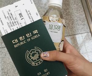korea, korean, and passport image