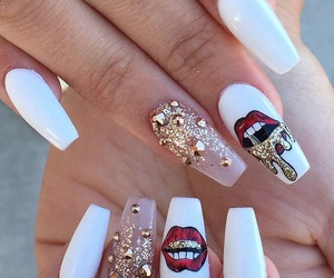 do it yourself, nail, and colorful nail image