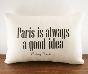 paris, quote, and pillow image