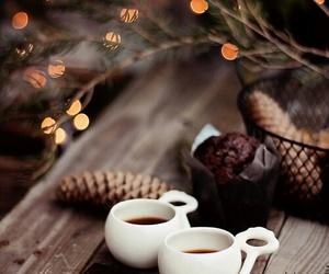 christmas, coffee, and winter image