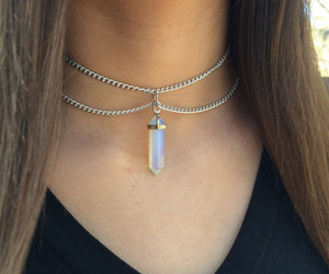 accessories, choker, and crystal image