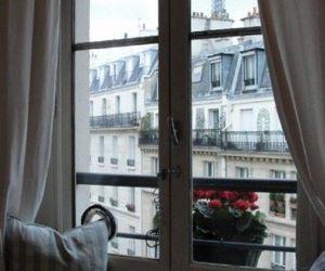 window, house, and paris image