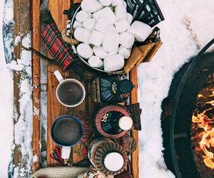 winter, snow, and food image