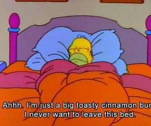 bed, simpsons, and the simpsons image