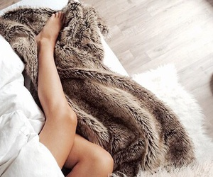 cozy, bed, and blanket image