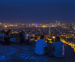 Barcelona, silhouettes, and barcelone image