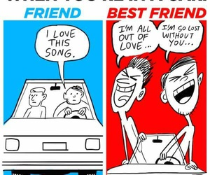 bff, funny, and friends image