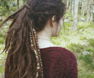 beauty, brown, and dreadlocks image