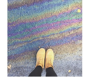 colors, rainbow, and timberland image