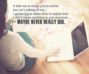 quote, online, and love image