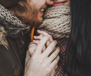 cold, happiness, and couple image