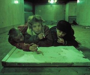kids, smoke, and cigarette image