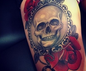 body art, grunge, and ink image