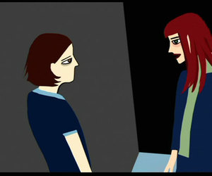 waking life and talk with a stranger image