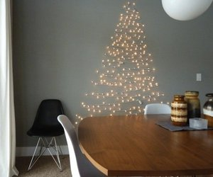 lights, christmas, and christmas tree image