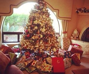 christmas, christmas tree, and gifts image