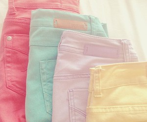 pastel, jeans, and pink image