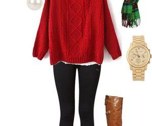 invierno, moda, and navidad image