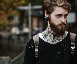 tattoo, boy, and beard image
