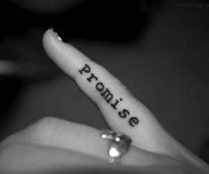 finger, promise, and tattoes image